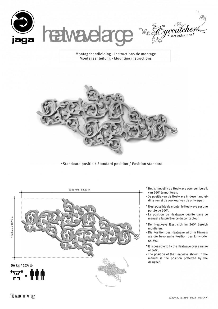 Pagina 10 - Radiatoare modulare - Large JAGA HEATWAVE Instructiuni montaj, utilizare Engleza,...