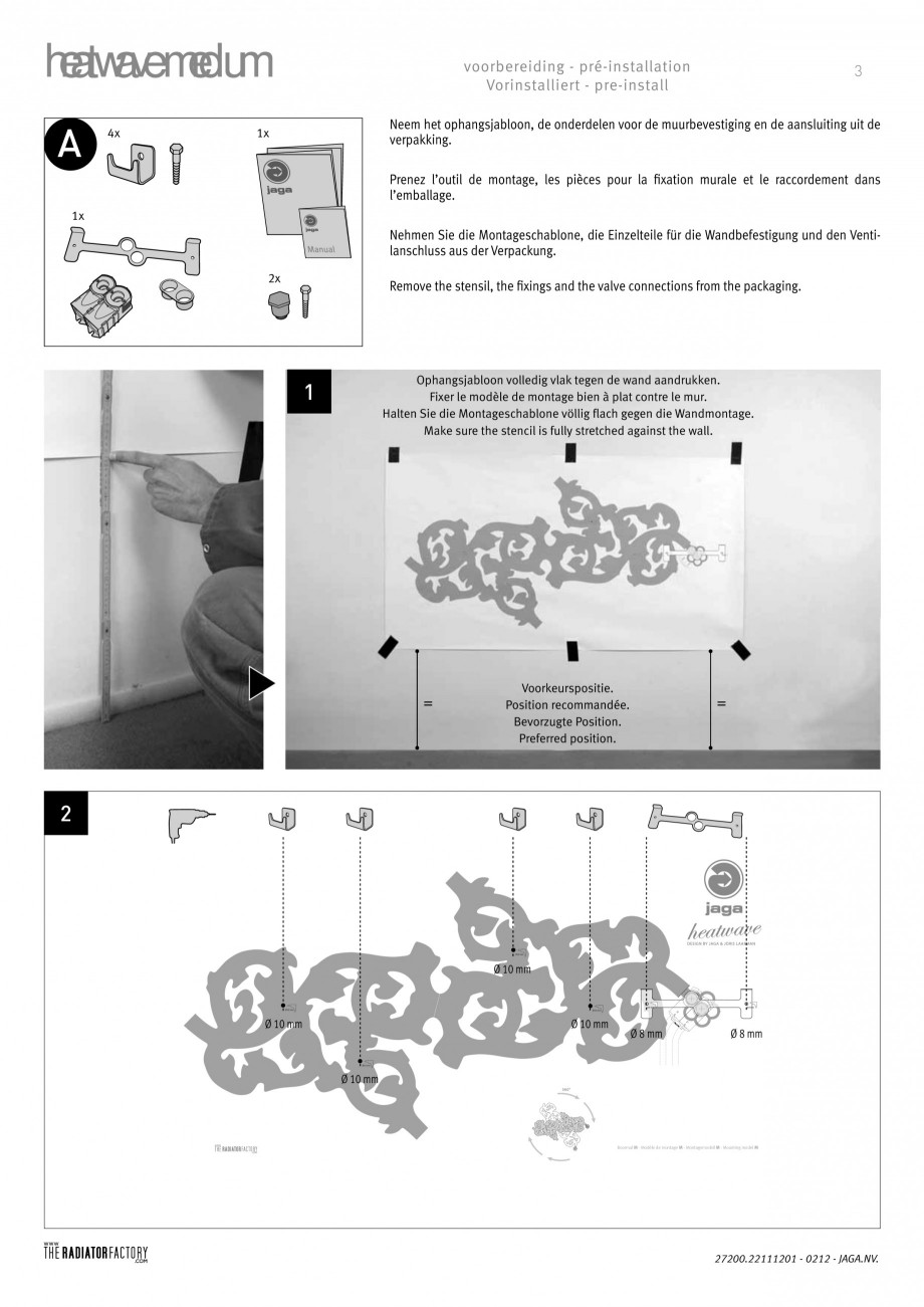 Pagina 3 - Radiatoare modulare - Medium JAGA HEATWAVE Instructiuni montaj, utilizare Engleza,...