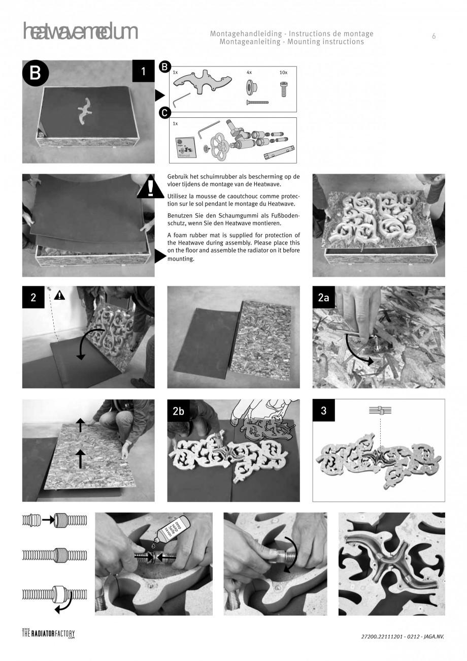 Pagina 6 - Radiatoare modulare - Medium JAGA HEATWAVE Instructiuni montaj, utilizare Engleza,...
