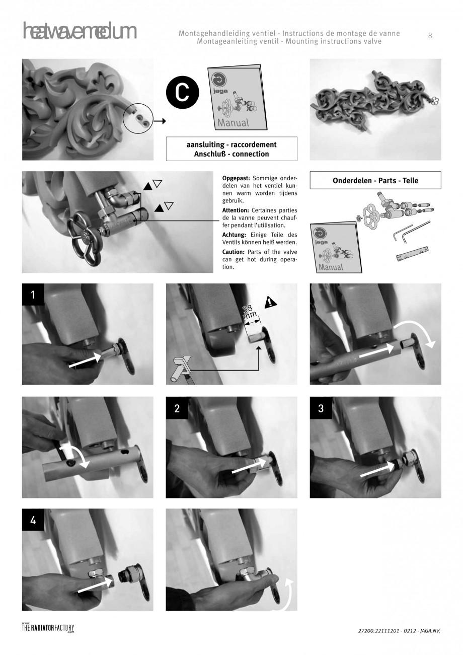 Pagina 8 - Radiatoare modulare - Medium JAGA HEATWAVE Instructiuni montaj, utilizare Engleza,...