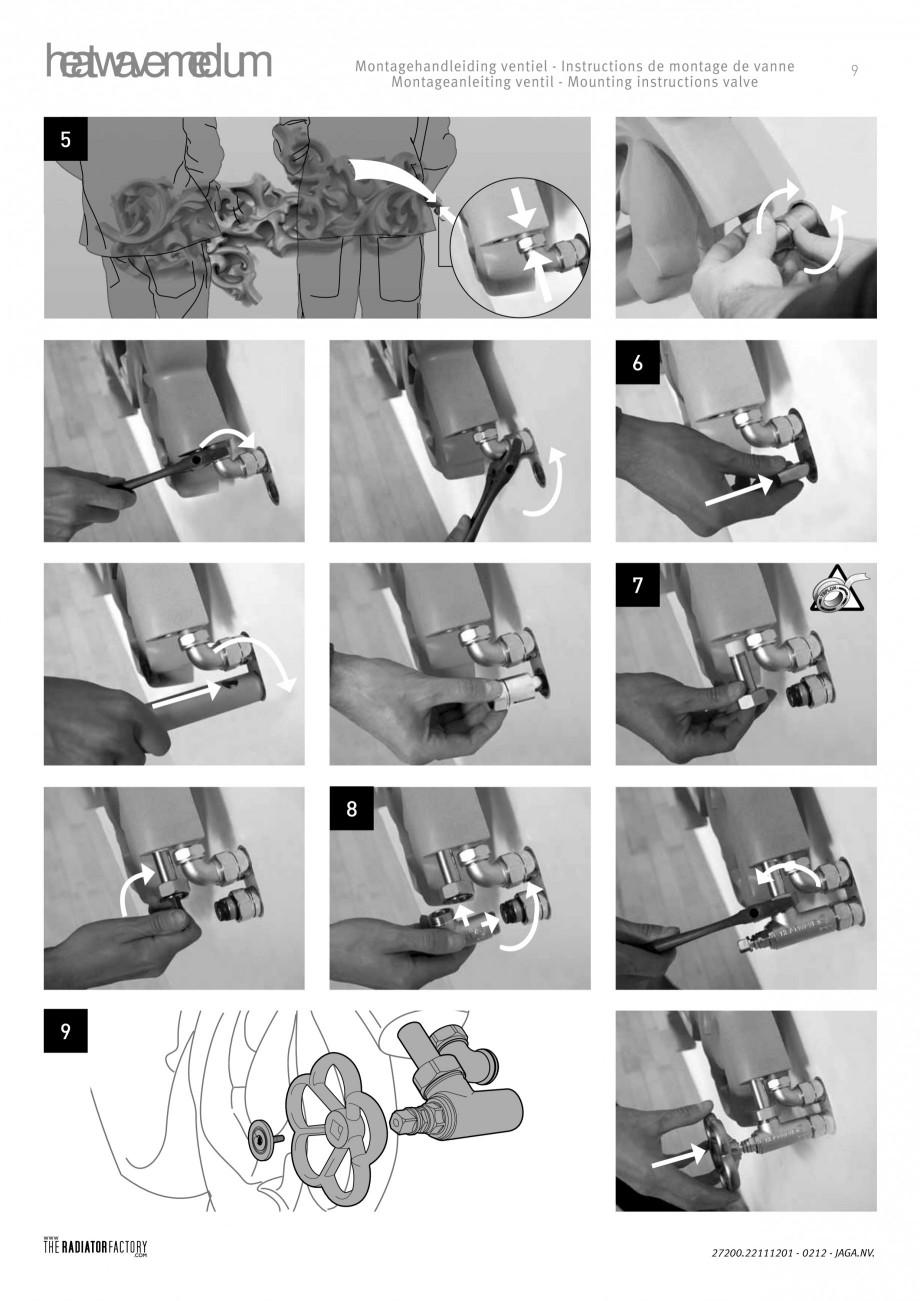 Pagina 9 - Radiatoare modulare - Medium JAGA HEATWAVE Instructiuni montaj, utilizare Engleza,...