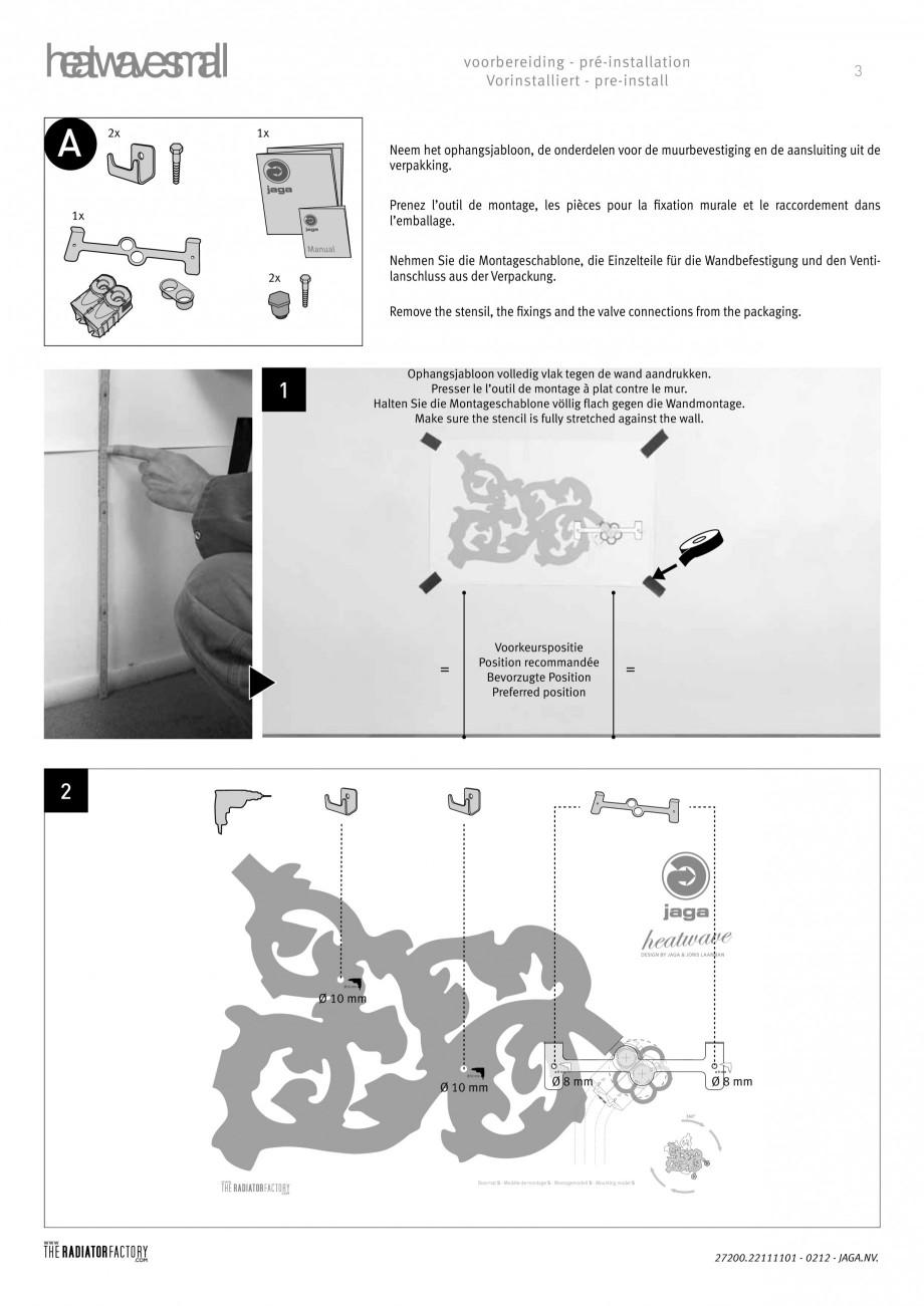 Pagina 3 - Radiatoare modulare - Small JAGA HEATWAVE Instructiuni montaj, utilizare Engleza,...