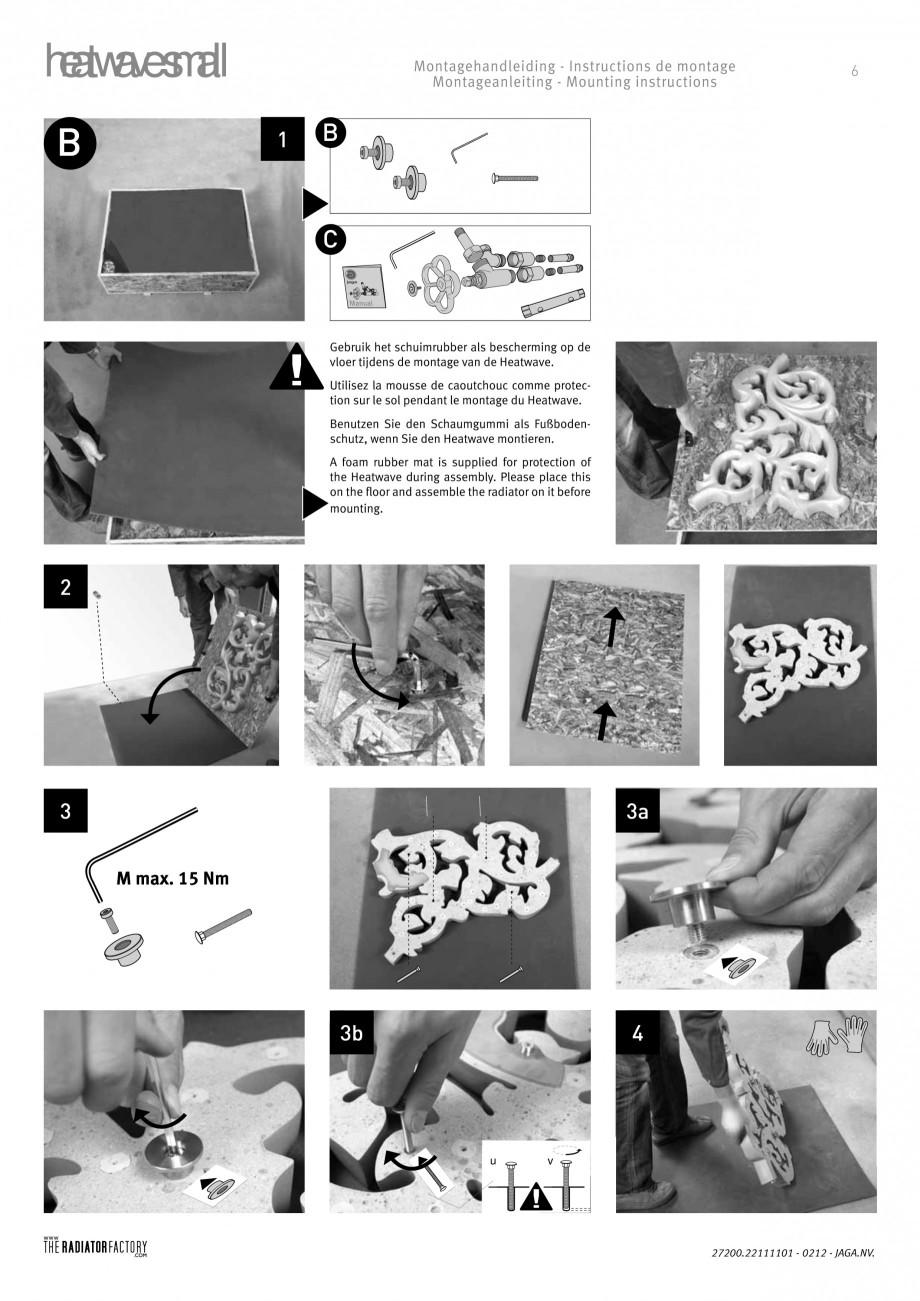 Pagina 6 - Radiatoare modulare - Small JAGA HEATWAVE Instructiuni montaj, utilizare Engleza,...