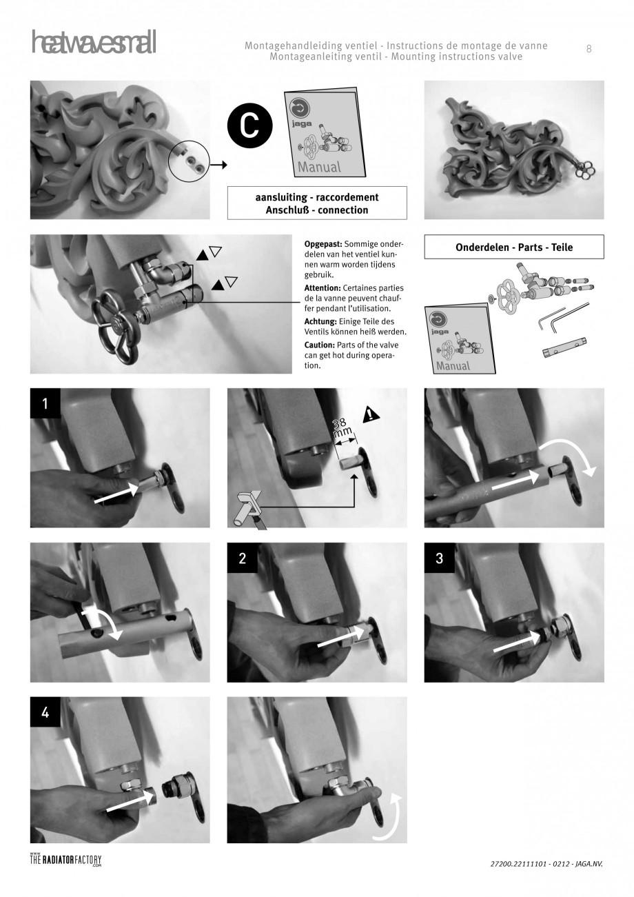 Pagina 8 - Radiatoare modulare - Small JAGA HEATWAVE Instructiuni montaj, utilizare Engleza,...