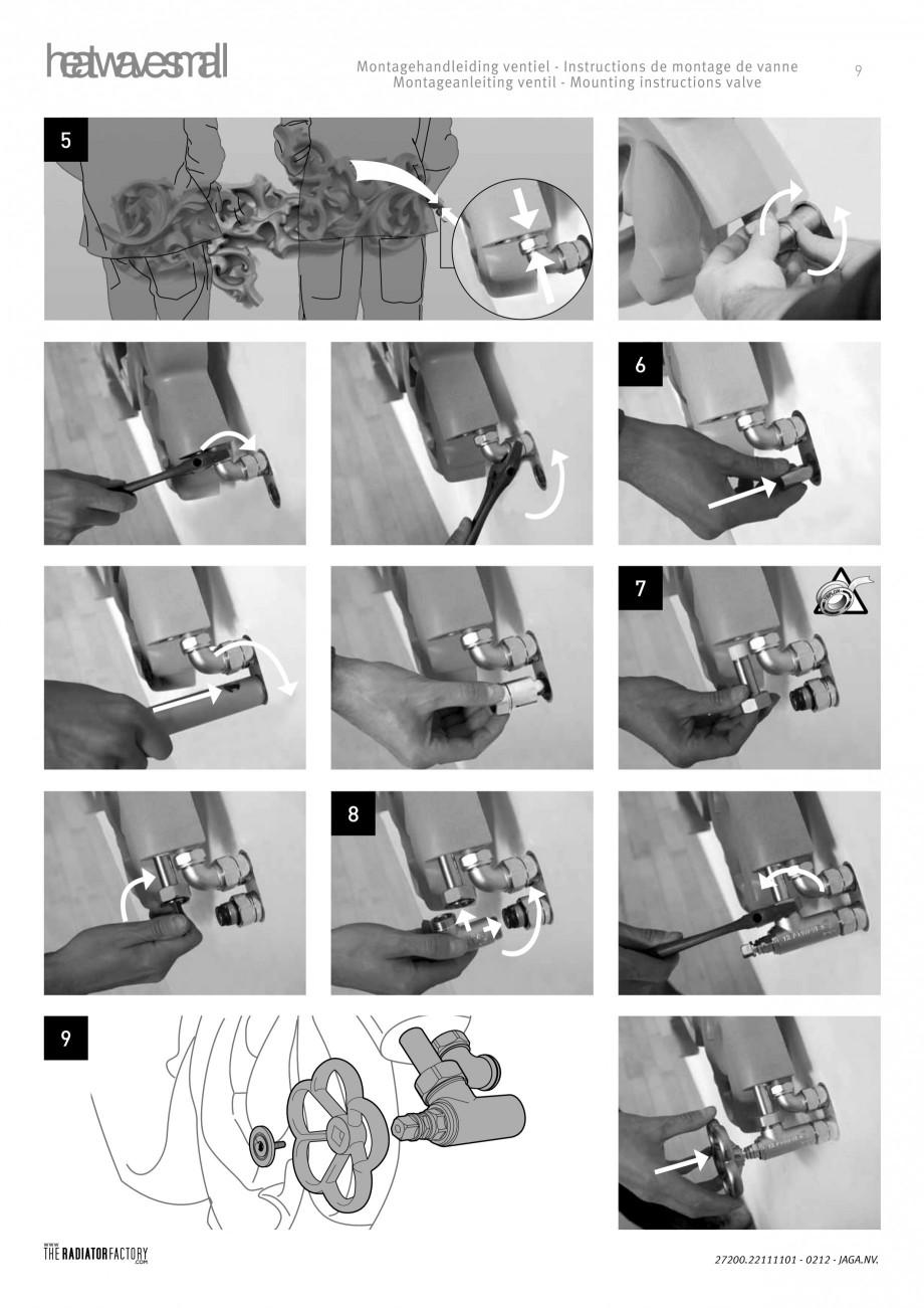 Pagina 9 - Radiatoare modulare - Small JAGA HEATWAVE Instructiuni montaj, utilizare Engleza,...