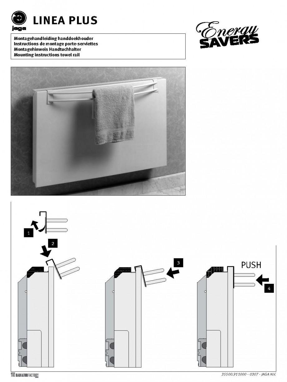 Pagina 1 - Bara portprosop - Montaj JAGA LINEA PLUS Instructiuni montaj, utilizare Engleza, Franceza...