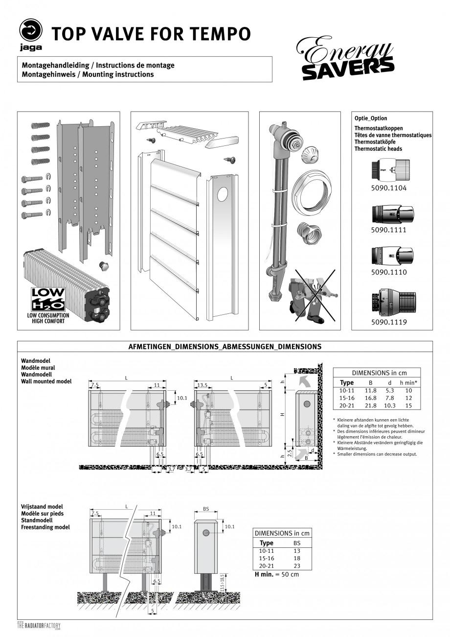 Pagina 1 - Robinet prelungit - Montaj  JAGA TEMPO Instructiuni montaj, utilizare Engleza, Franceza, ...