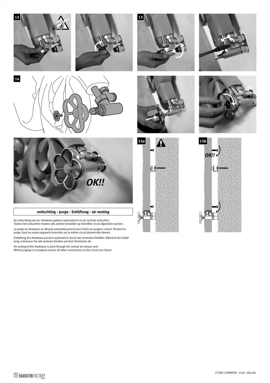 Pagina 2 - Montaj Robineti JAGA HEATWAVE Instructiuni montaj, utilizare Engleza, Franceza, Olandeza,...