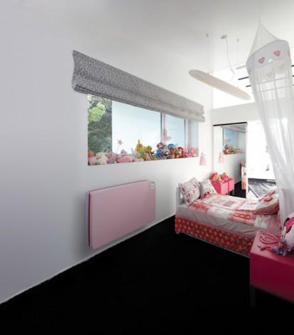 Radiator de joasa temperatura cu panou de lemn PLAY4Girl - amenajare dormitor fete PLAY Radiatoare de