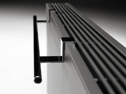 Calorifer orizontal cu panou de otel si fata plana - STRADA Grey Towel Rail STRADA Calorifere