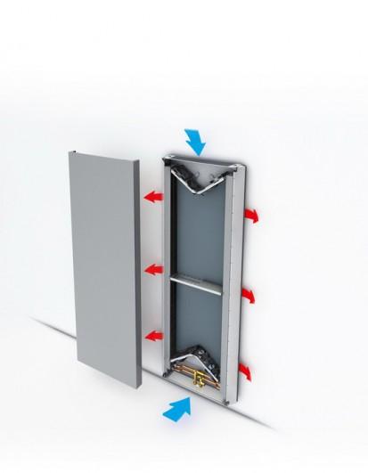 Radiator de joasa temperatura cu design special Vertiga - detaliu interior VERTIGA Radiatoare de joasa temperatura