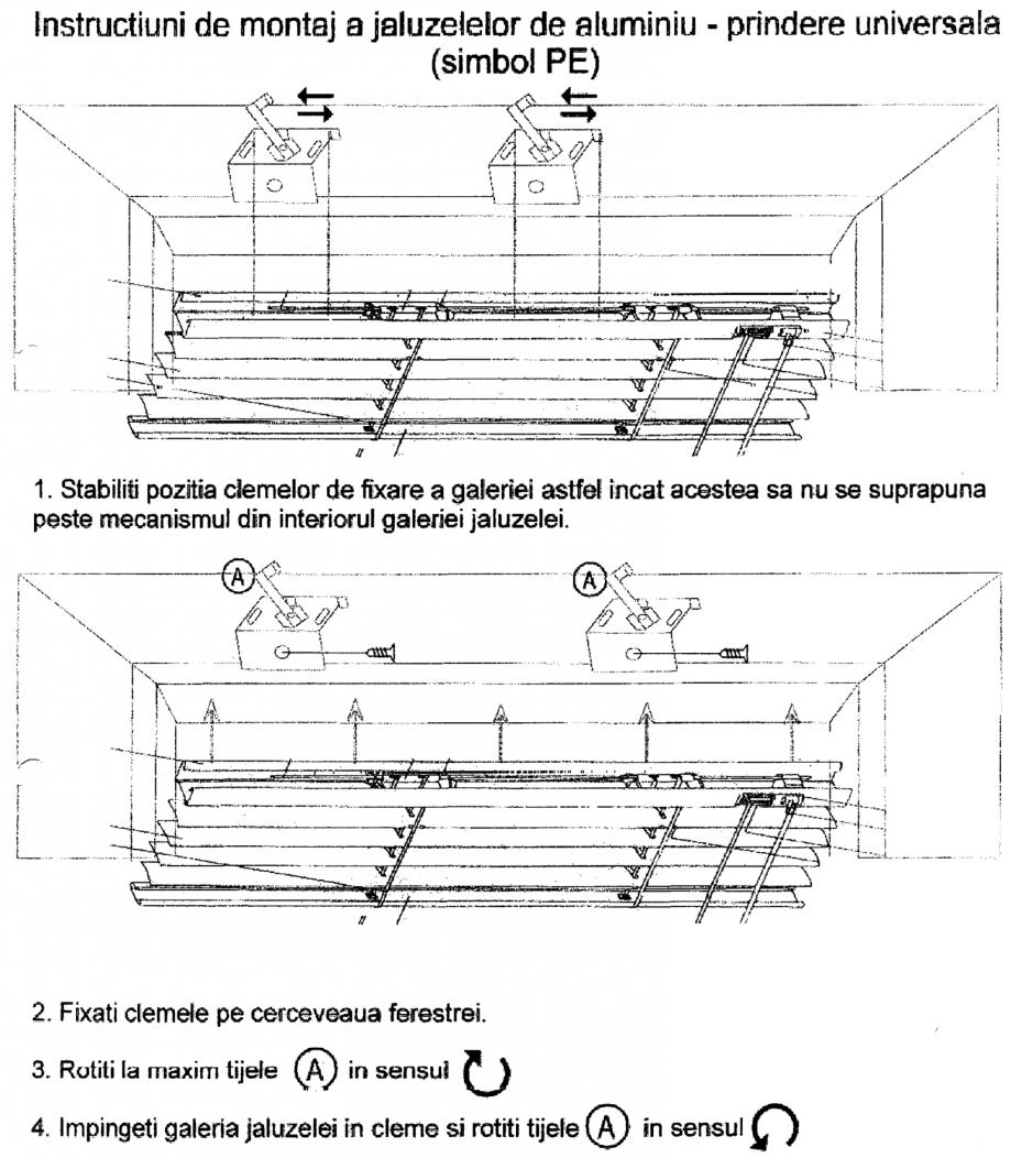 Pagina 1 - Jaluzele din aluminiu - prindere universala VIP Instructiuni montaj, utilizare Romana
