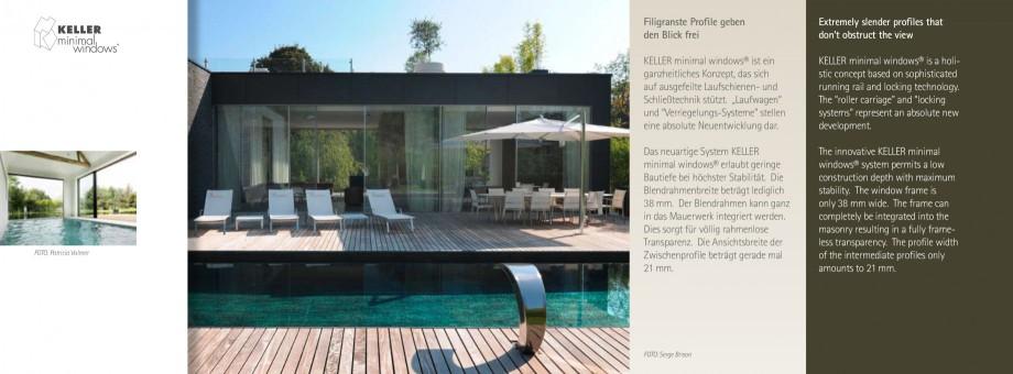 Pagina 4 - Usi si ferestre glisante din aluminiu KELLER Catalog, brosura Engleza, Germana profile...