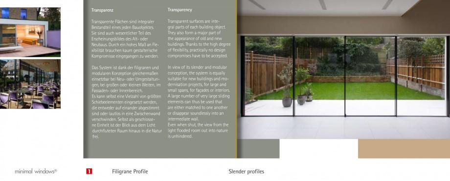 Pagina 5 - Usi si ferestre glisante din aluminiu KELLER Catalog, brosura Engleza, Germana �en oder...