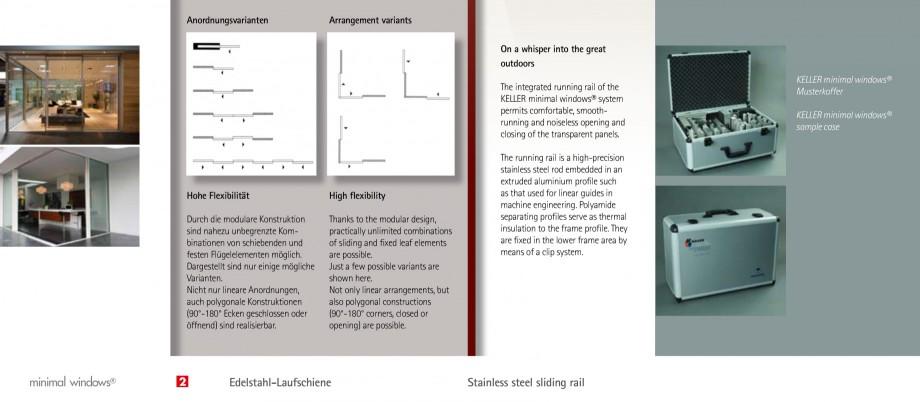 Pagina 7 - Usi si ferestre glisante din aluminiu KELLER Catalog, brosura Engleza, Germana r lineare ...