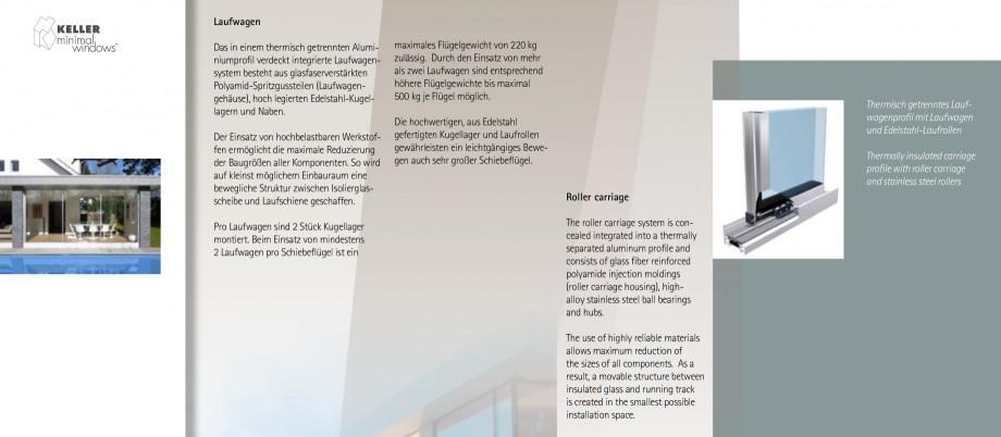 Pagina 8 - Usi si ferestre glisante din aluminiu KELLER Catalog, brosura Engleza, Germana n...