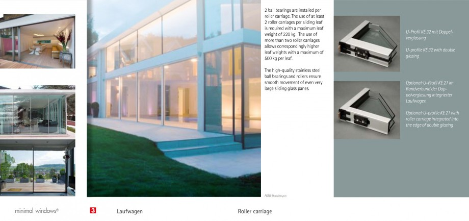 Pagina 9 - Usi si ferestre glisante din aluminiu KELLER Catalog, brosura Engleza, Germana grated...