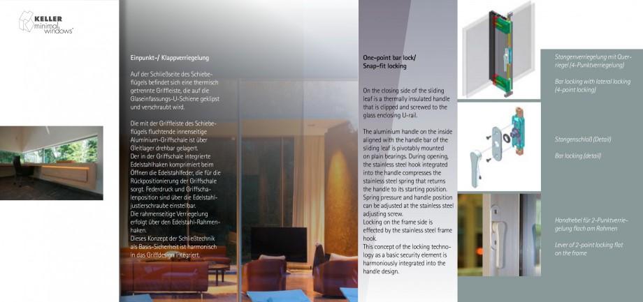 Pagina 10 - Usi si ferestre glisante din aluminiu KELLER Catalog, brosura Engleza, Germana KE 21...