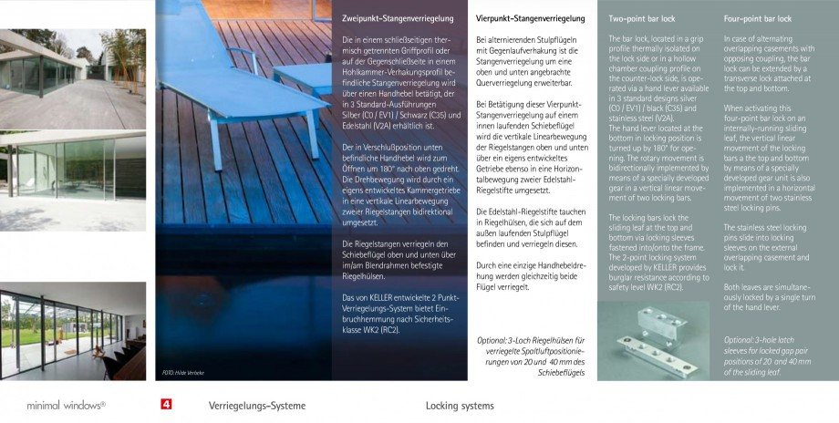 Pagina 11 - Usi si ferestre glisante din aluminiu KELLER Catalog, brosura Engleza, Germana  and...