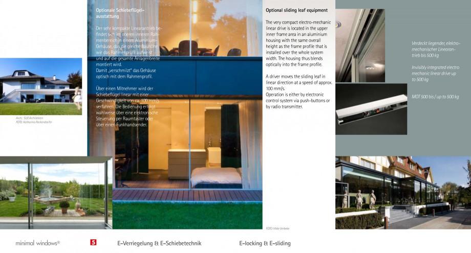 Pagina 13 - Usi si ferestre glisante din aluminiu KELLER Catalog, brosura Engleza, Germana e...