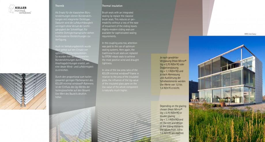 Pagina 14 - Usi si ferestre glisante din aluminiu KELLER Catalog, brosura Engleza, Germana...