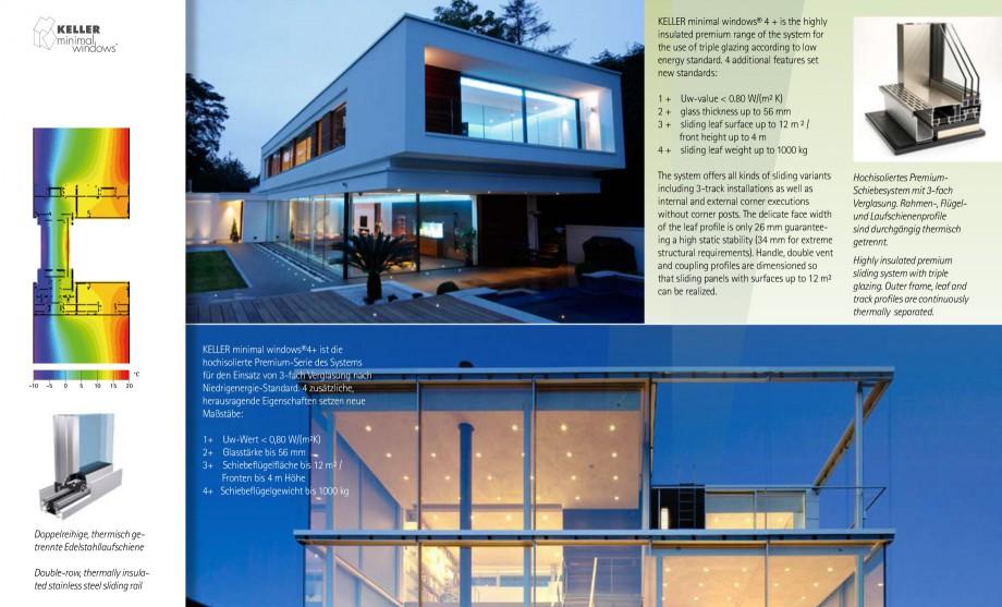 Pagina 18 - Usi si ferestre glisante din aluminiu KELLER Catalog, brosura Engleza, Germana nal zum...