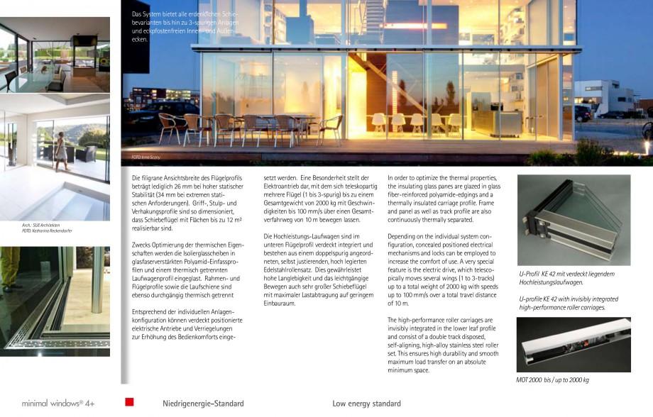 Pagina 19 - Usi si ferestre glisante din aluminiu KELLER Catalog, brosura Engleza, Germana  design...