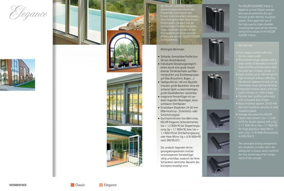 Pagina 21 - Usi si ferestre glisante din aluminiu KELLER Catalog, brosura Engleza, Germana e, an...