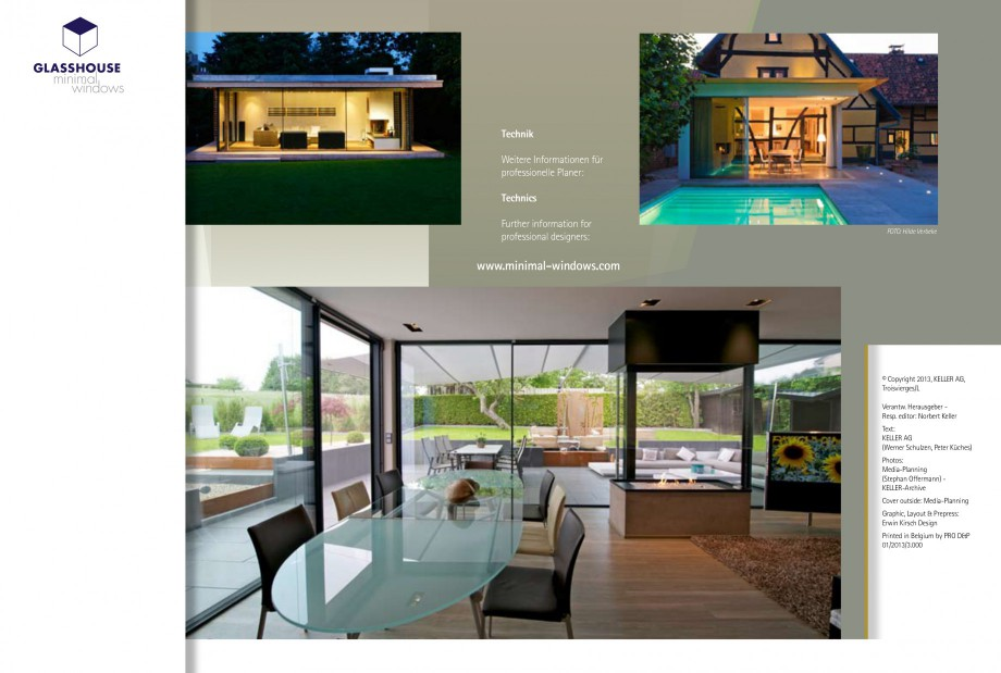 Pagina 22 - Usi si ferestre glisante din aluminiu KELLER Catalog, brosura Engleza, Germana ternal...