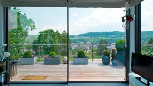 Prezentare produs Ferestre minimale - Casa sera 2 - Glasshouse® Deluxe KELLER - Poza 3