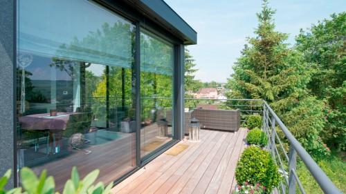 Prezentare produs Ferestre minimale - Casa sera 2 - Glasshouse® Deluxe KELLER - Poza 4