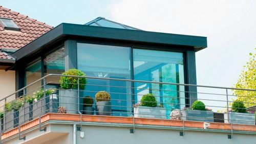 Prezentare produs Ferestre minimale - Casa sera 2 - Glasshouse® Deluxe KELLER - Poza 5