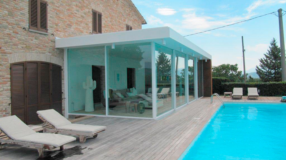 Ferestre minimale - Terasa cu ferestre si usi glisante KELLER - Poza 3
