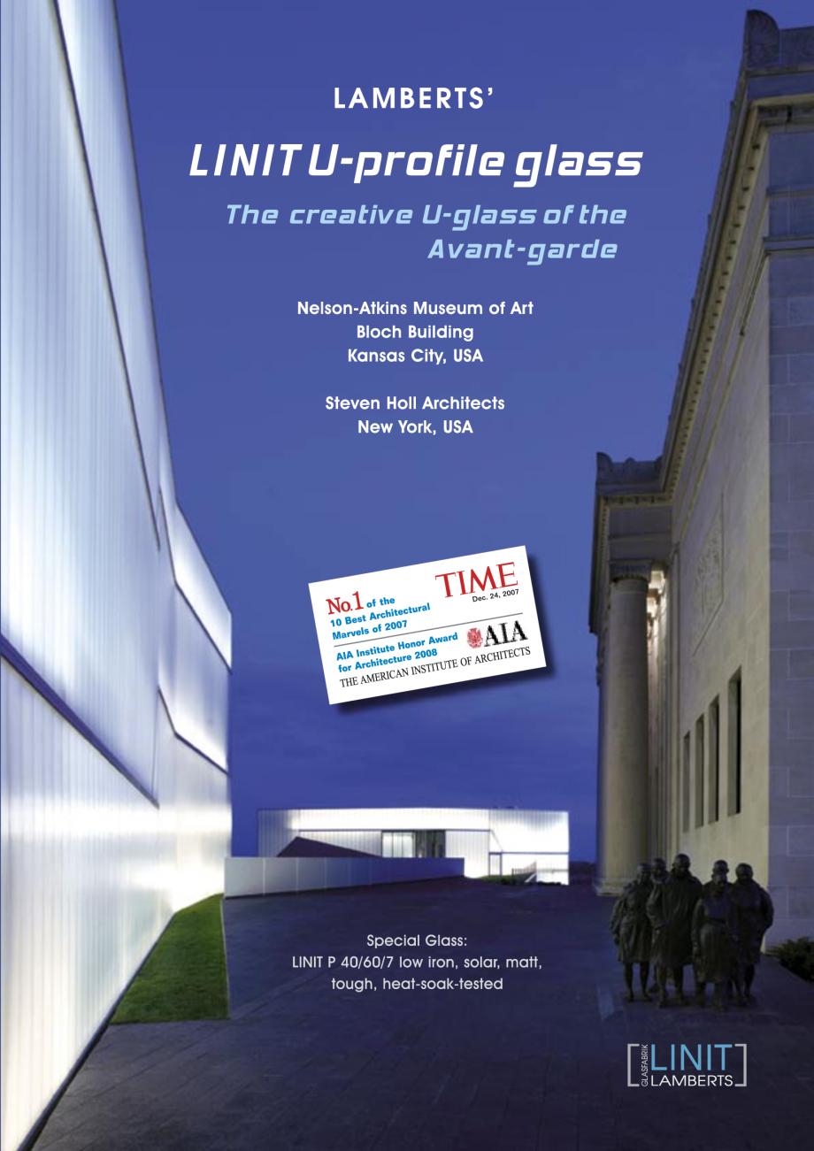 Pagina 2 - Catalog de prezentare - Sticla in forma de U LINIT LINIT U Catalog, brosura Engleza...