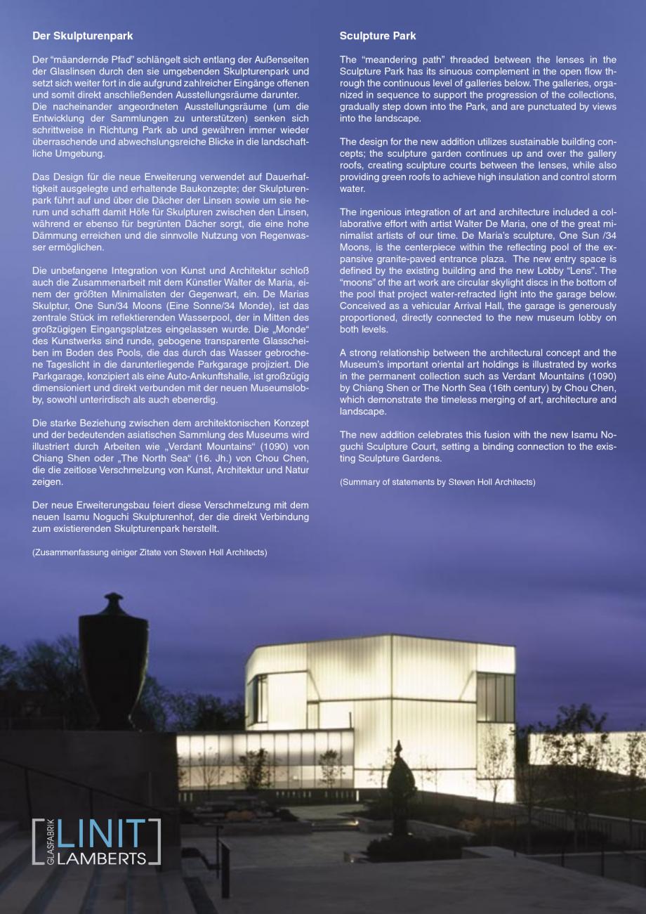 Pagina 5 - Catalog de prezentare - Sticla in forma de U LINIT LINIT U Catalog, brosura Engleza ...