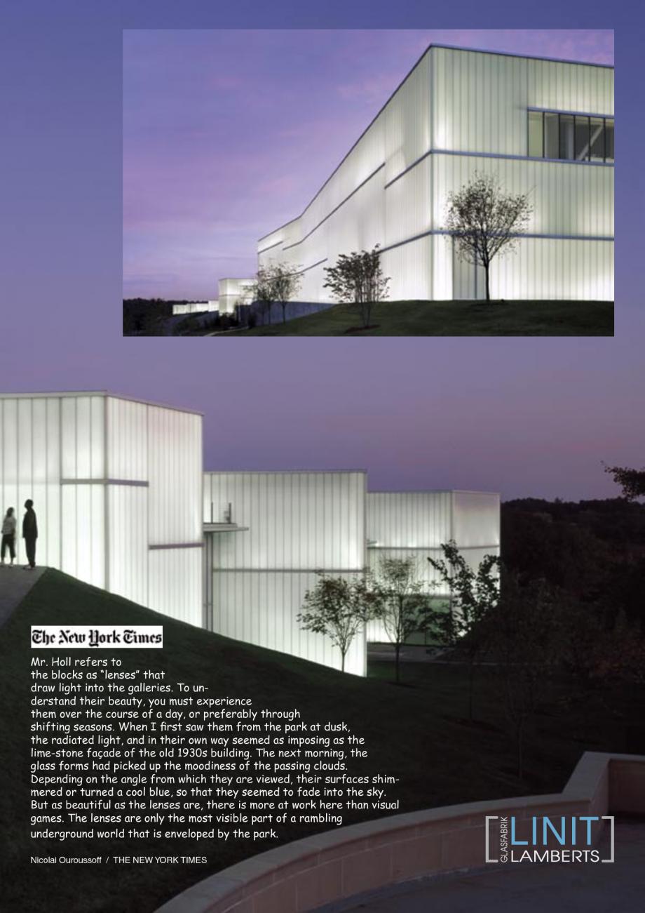 Pagina 26 - Catalog de prezentare - Sticla in forma de U LINIT LINIT U Catalog, brosura Engleza  THE...