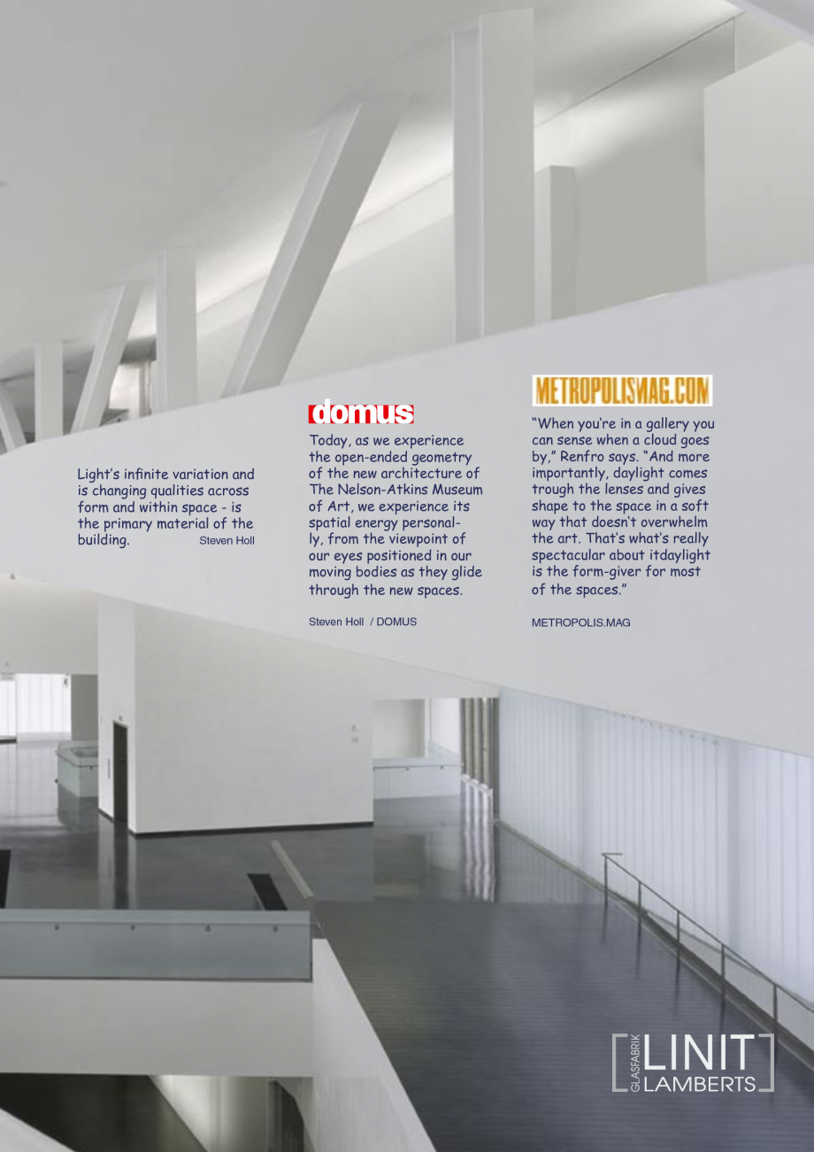 Pagina 34 - Catalog de prezentare - Sticla in forma de U LINIT LINIT U Catalog, brosura Engleza 35) ...