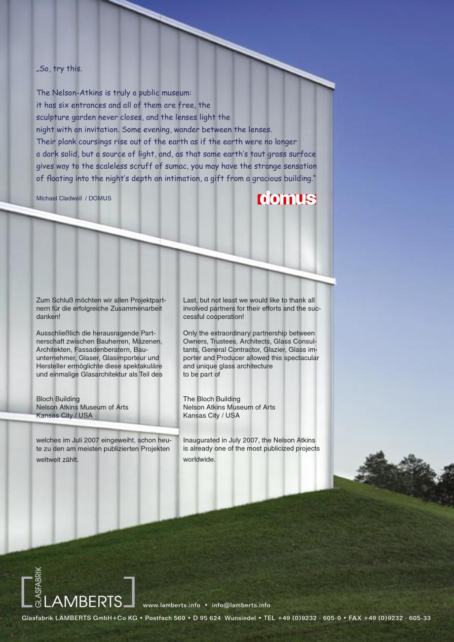 Pagina 37 - Catalog de prezentare - Sticla in forma de U LINIT LINIT U Catalog, brosura Engleza
