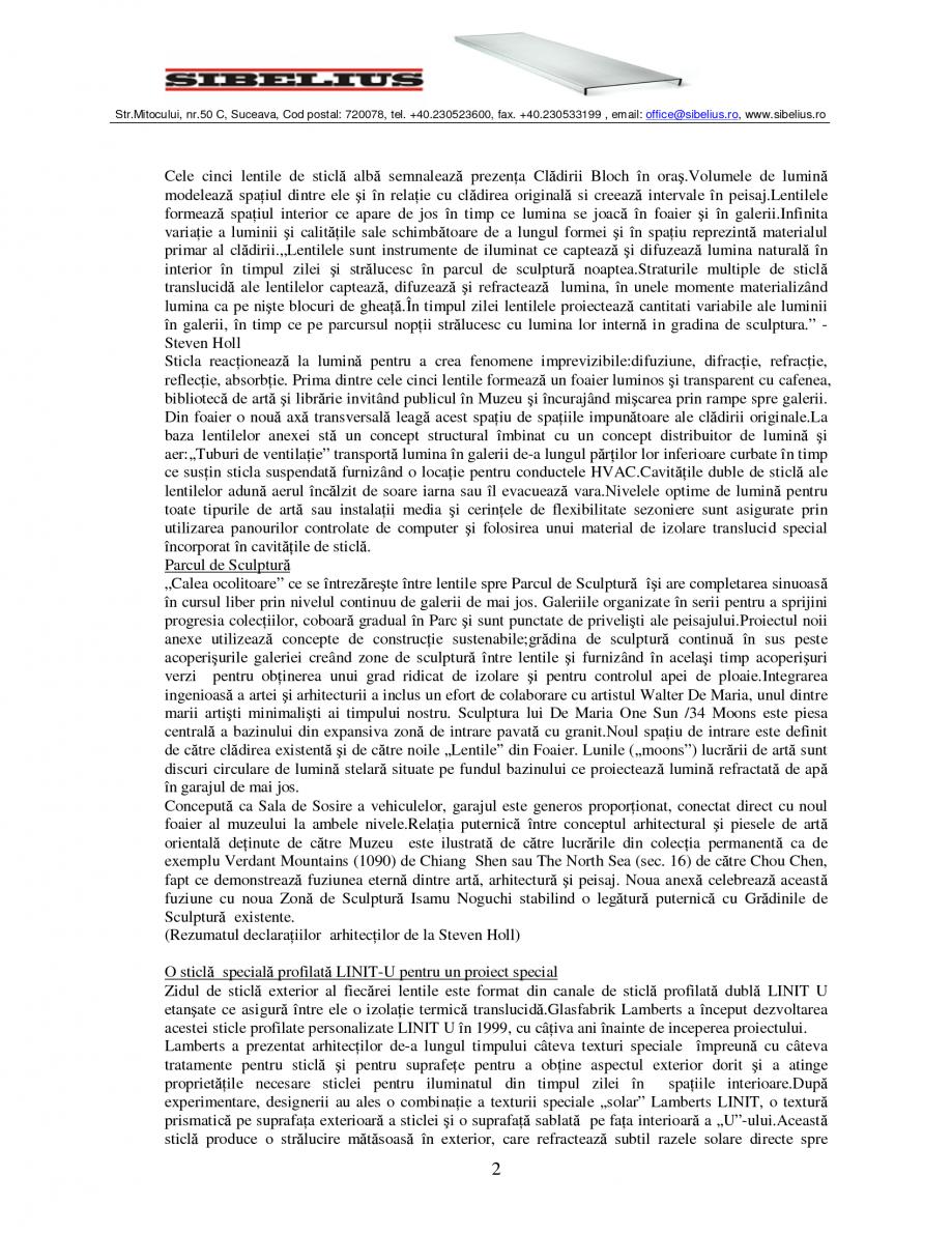 Pagina 2 - Sticla in forma de U LINIT LINIT U Catalog, brosura Romana  ultramoderne (primul cuptor...