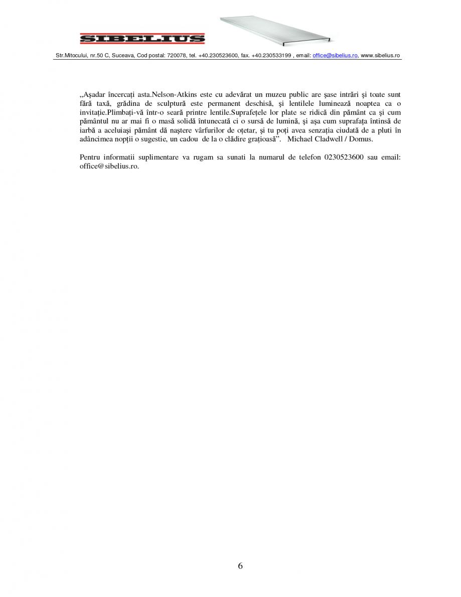 Pagina 6 - Sticla in forma de U LINIT LINIT U Catalog, brosura Romana  în timp ce sus in sticla...