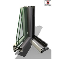Sisteme aluminiu pentru usi de interior  Usile de interior realizate din sisteme profilate de aluminiu Metra-Flex sunt rezistente, oferind in acelasi timp izolatie acustica si termica.
