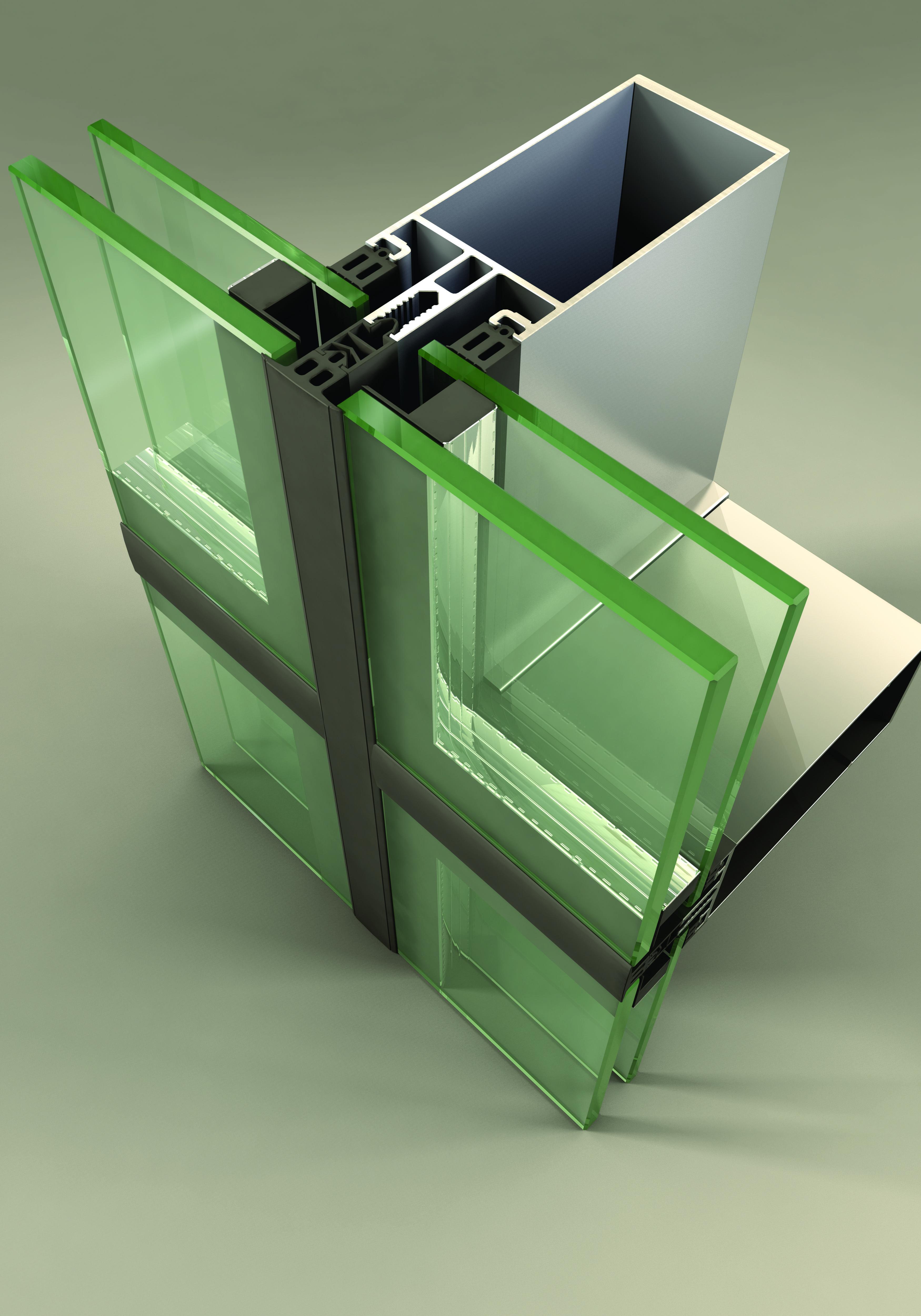 Sisteme din aluminiu pentru fatade continue LEYKOM METRA - Poza 13
