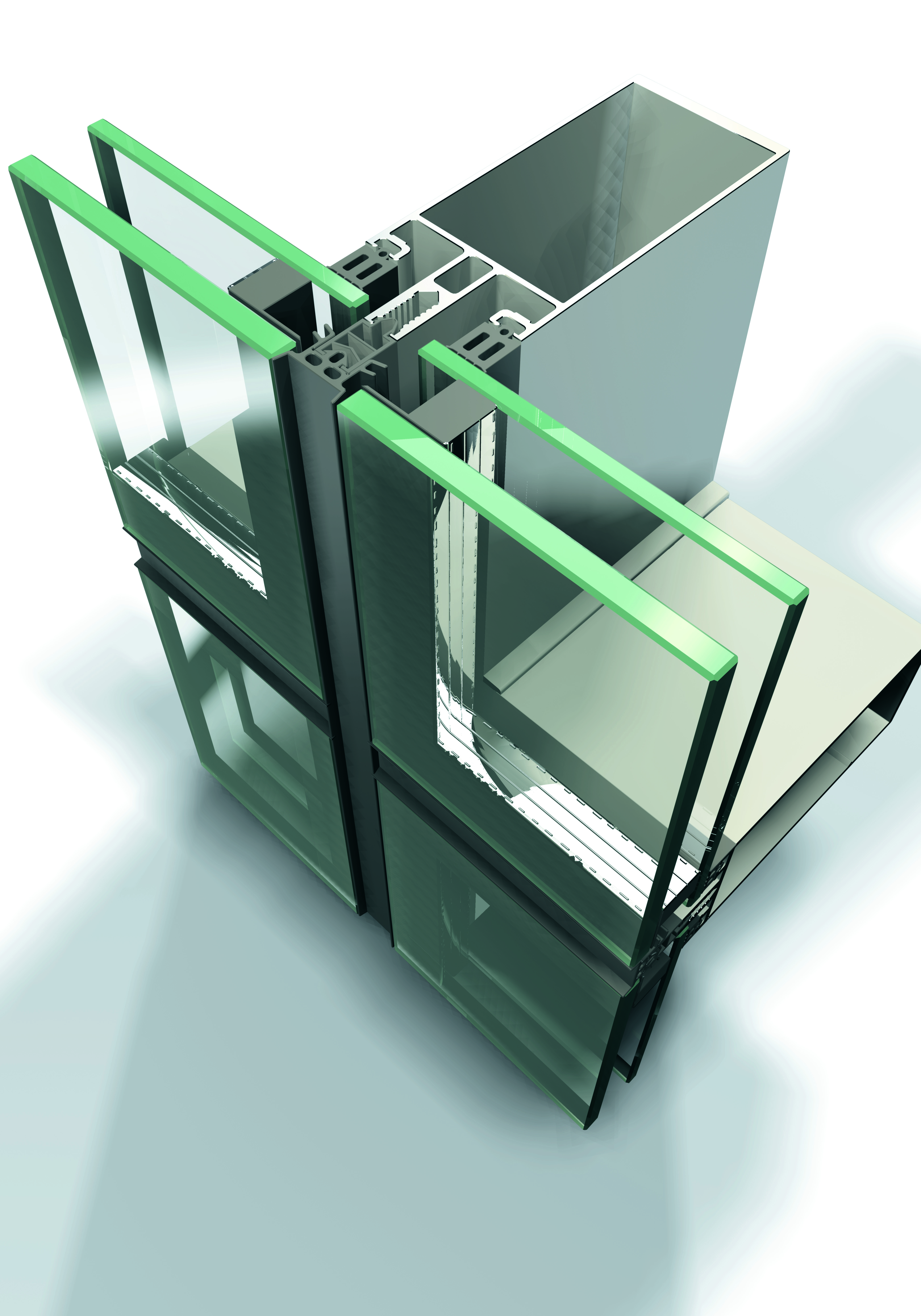 Sisteme din aluminiu pentru fatade continue LEYKOM METRA - Poza 14