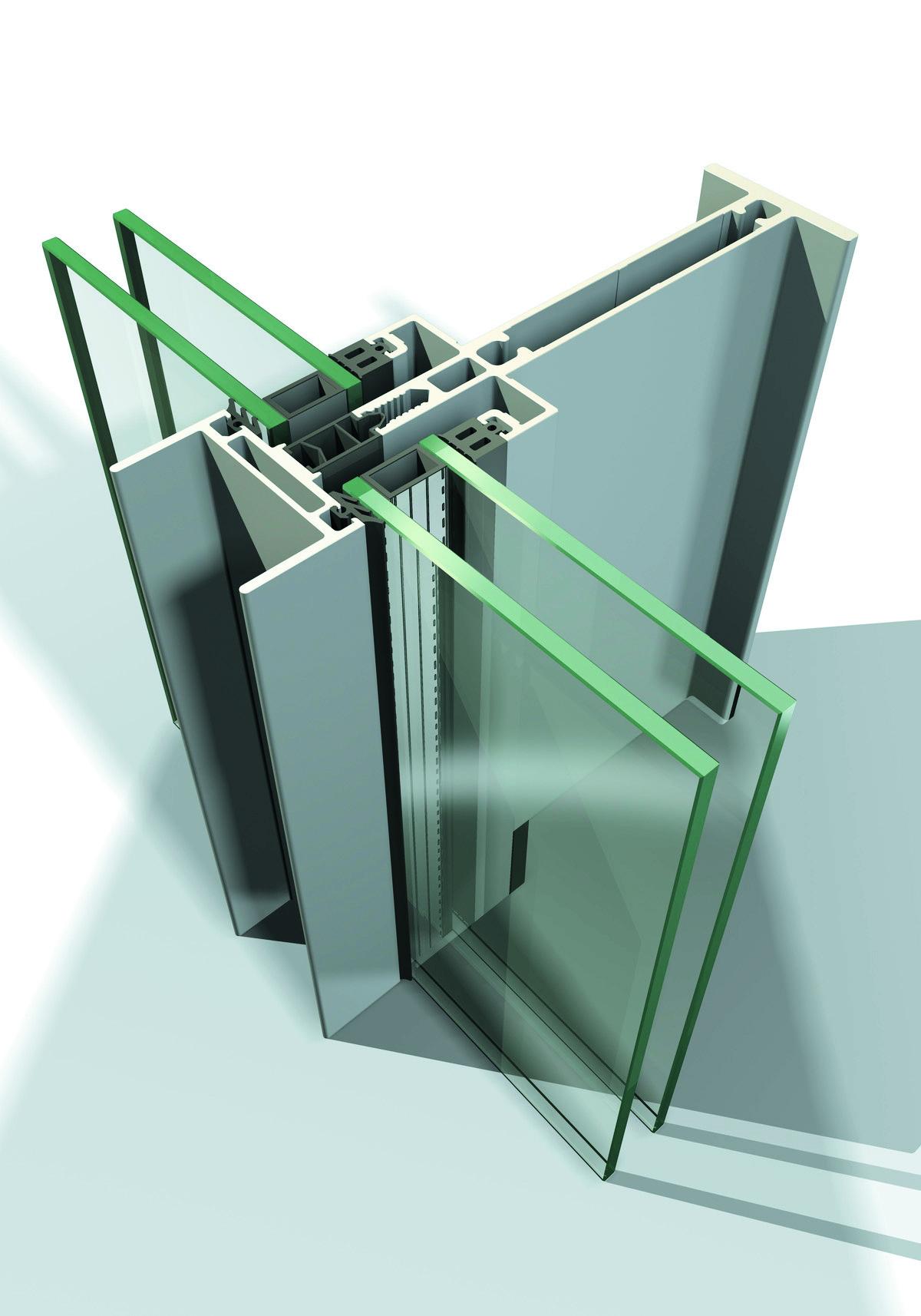 Sisteme din aluminiu pentru fatade continue LEYKOM METRA - Poza 15