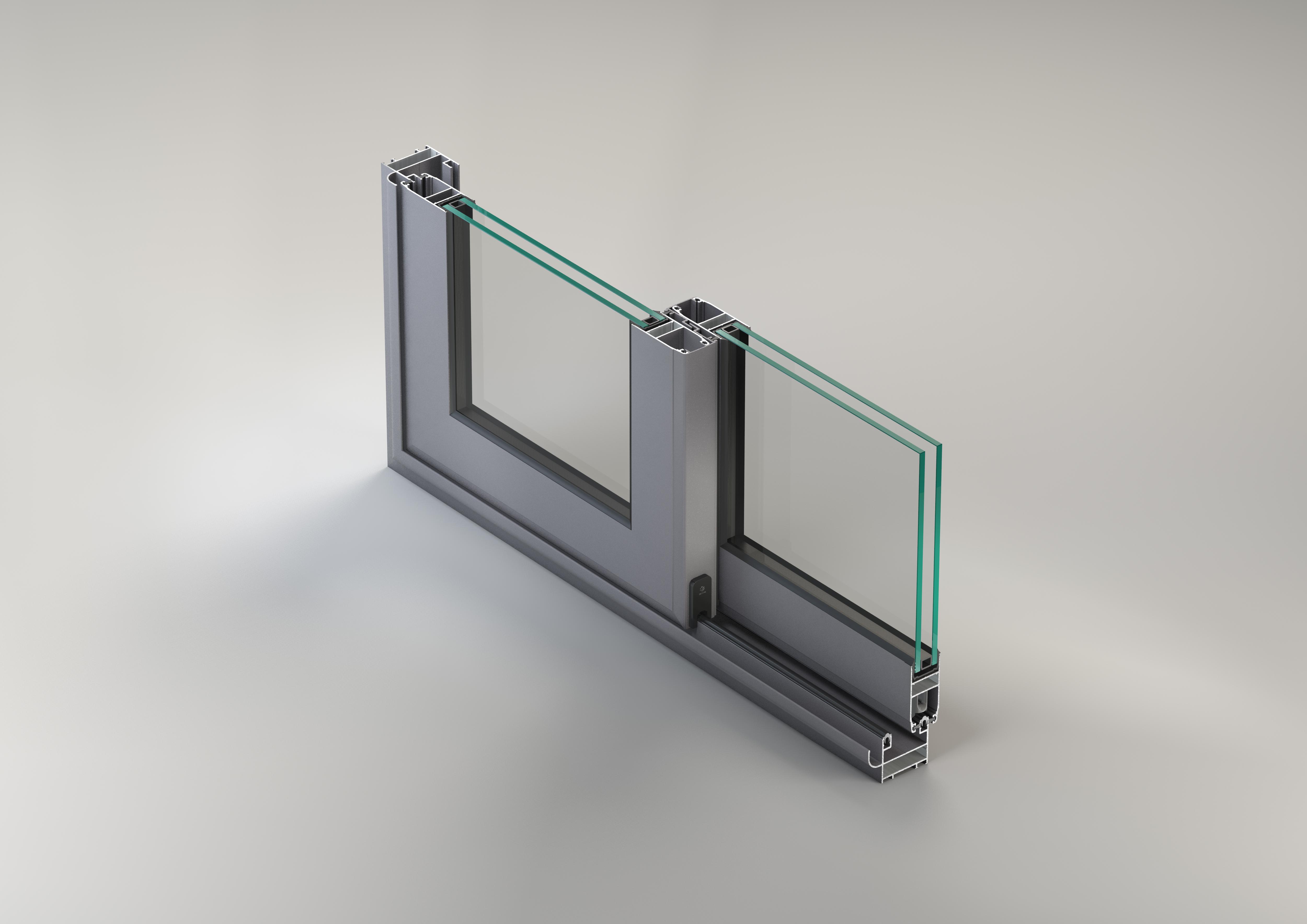 Sisteme aluminiu pentru usi glisante LEYKOM METRA - Poza 1