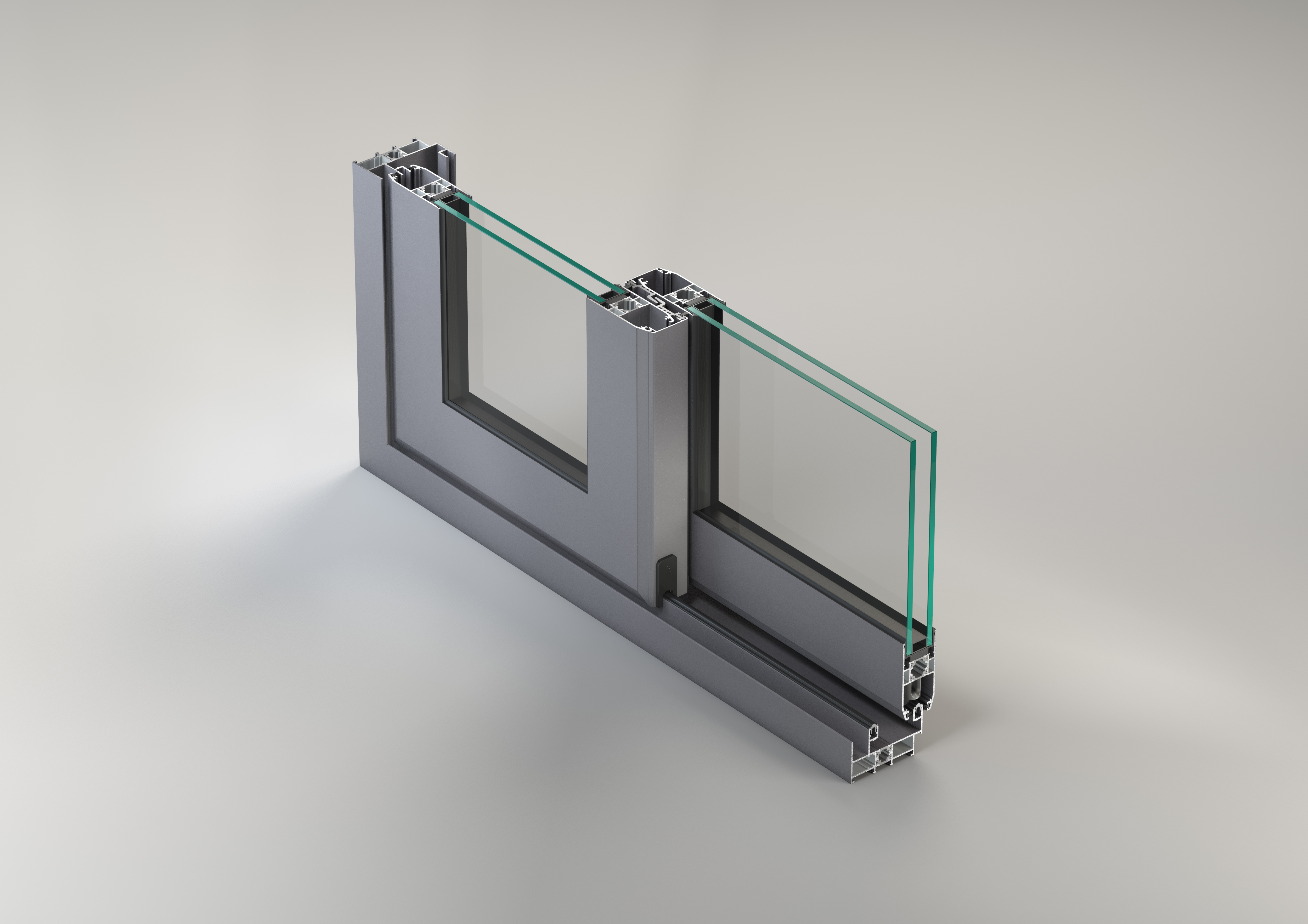 Sisteme aluminiu pentru usi glisante LEYKOM METRA - Poza 4