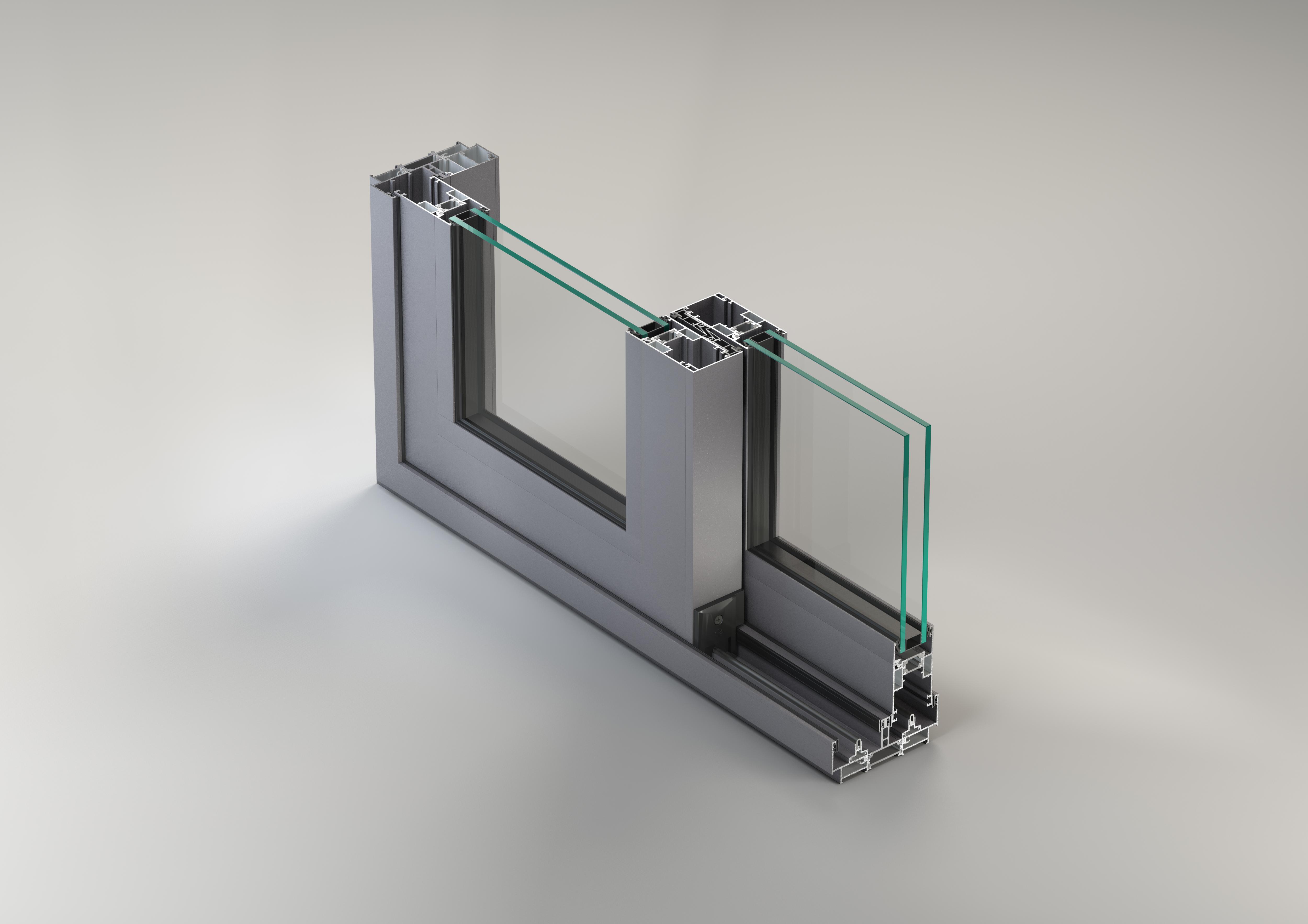 Sisteme aluminiu pentru usi glisante LEYKOM METRA - Poza 6