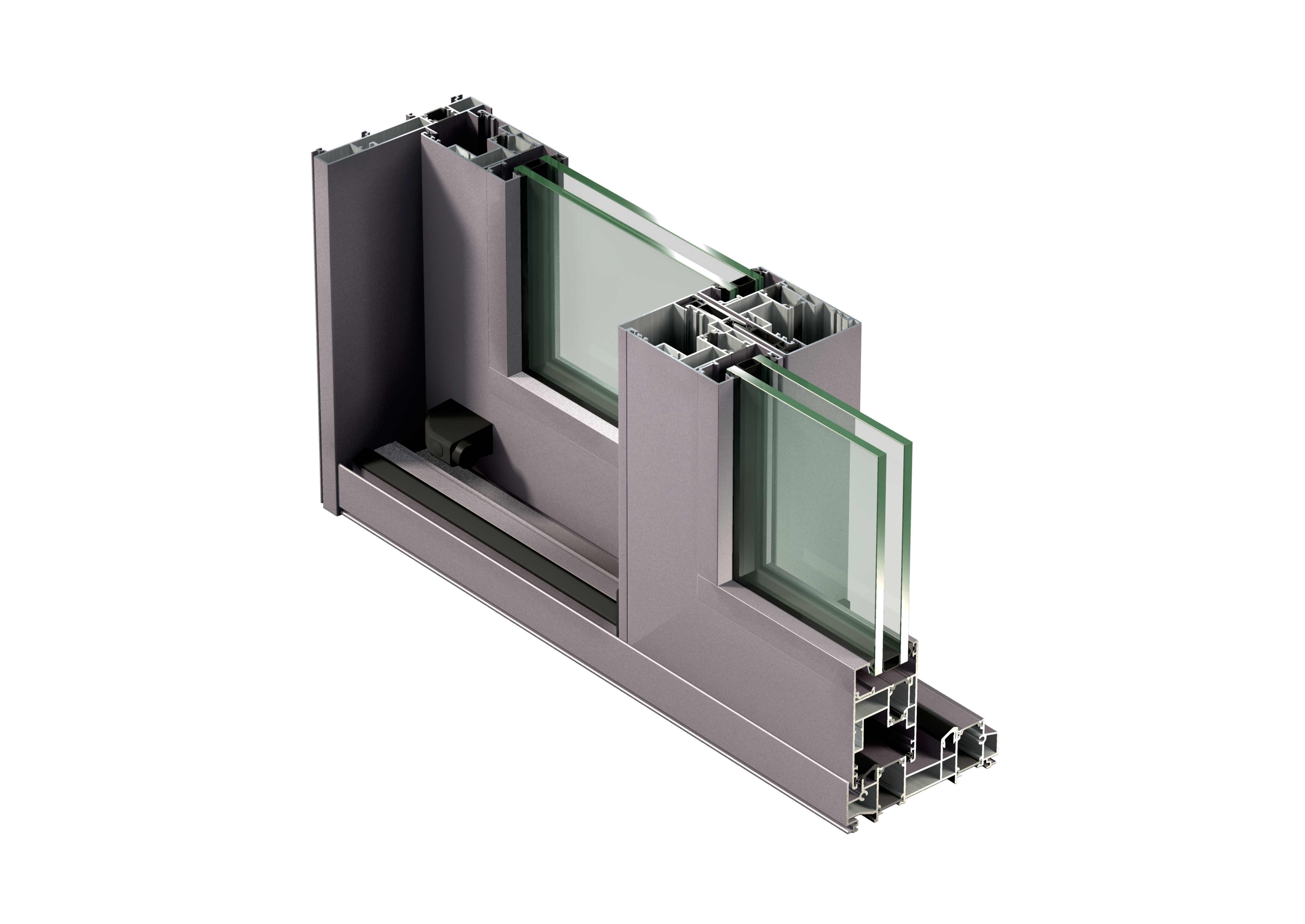 Sisteme aluminiu pentru usi glisante LEYKOM METRA - Poza 8