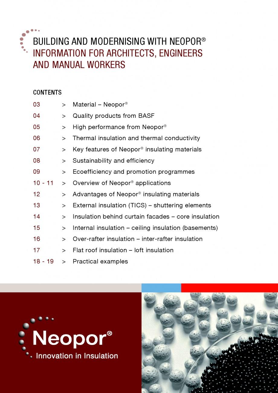 Pagina 2 - Polistiren expandat - Building and modernising with NEOPOR BASF Catalog, brosura Engleza ...
