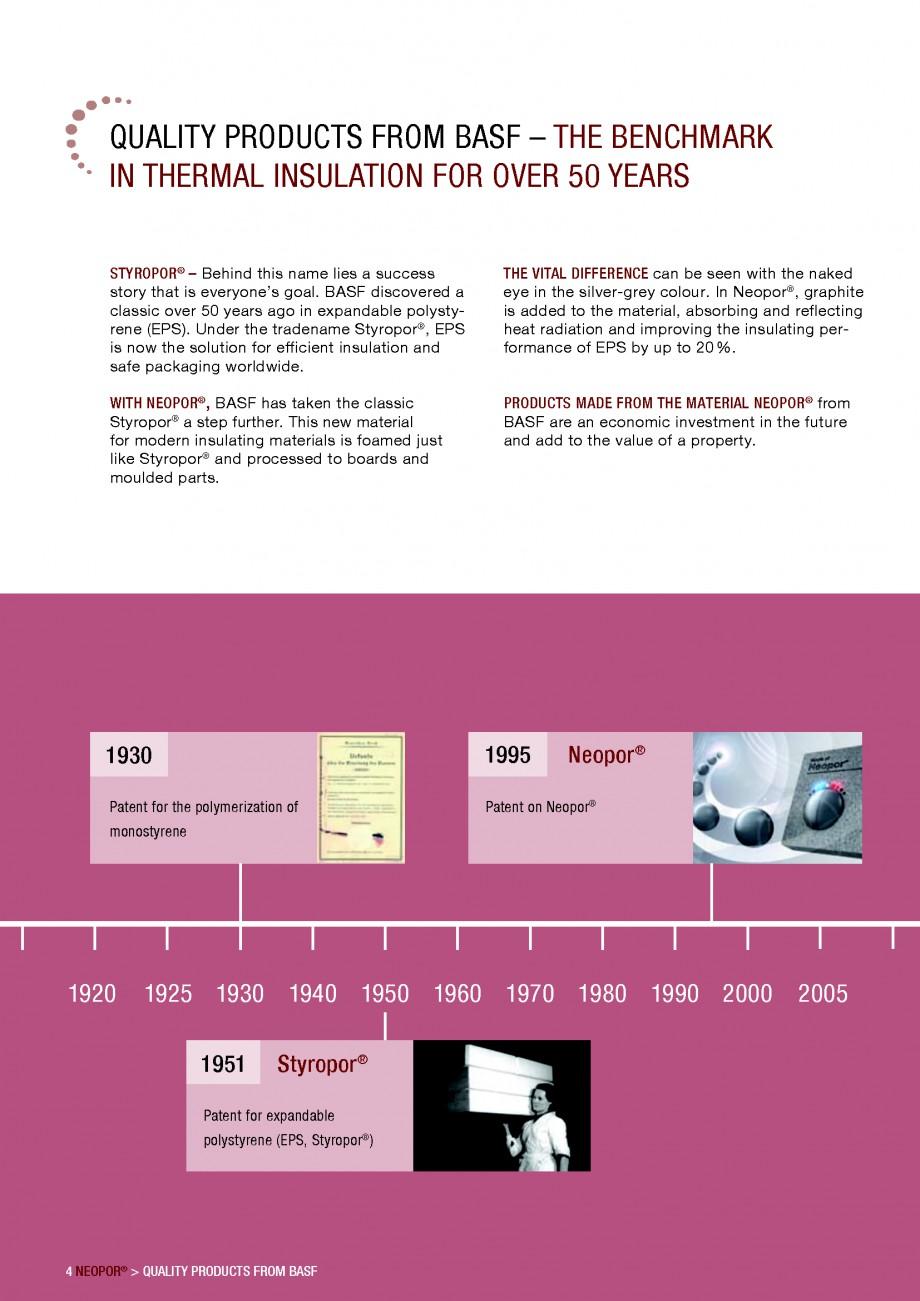 Pagina 4 - Polistiren expandat - Building and modernising with NEOPOR BASF Catalog, brosura Engleza ...